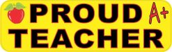 Proud Teacher Vinyl Sticker