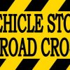 This Vehicle Stops at All Railroad Crossings Magnet