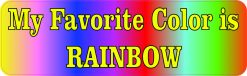 My Favorite Color Is Rainbow Vinyl Sticker