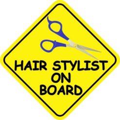 Hair Stylist On Board Sticker