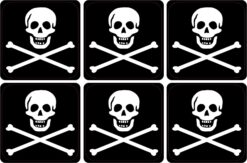 Jolly Roger Pirate Flag Vinyl Stickers