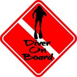 Diver On Board Sticker