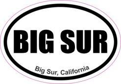 Oval Big Sur California Sticker