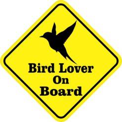 Bird Lover On Board Sticker