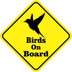 Birds On Board Sticker