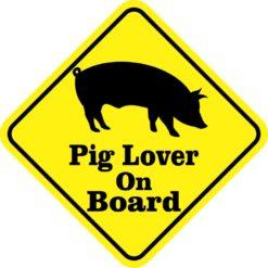 Pig Lover On Board Magnet