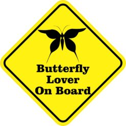 Butterfly Lover On Board Sticker