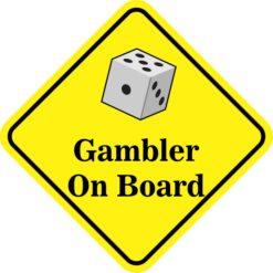 Dice Gambler On Board Magnet