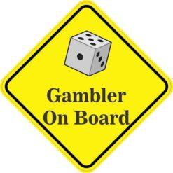 Dice Gambler On Board Sticker