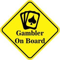 Cards Gambler On Board Sticker