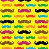 Assorted Color Mustache Vinyl Sheet