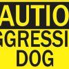 caution aggressive dog