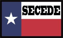 Texas Flag Secede White