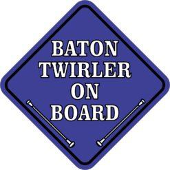 Blue Baton Twirler on Board Magnet