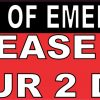 In Case Of Emergency Please Save Our 2 Dogs Sticker