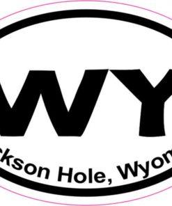 Oval Jackson Hole Sticker