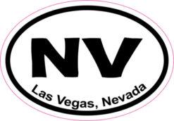 Oval Las Vegas sticker