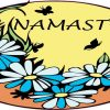 Orange Namaste Flower Sticker