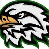 eagle head mascot sticker