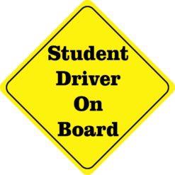 Student Driver On Board Sticker