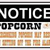 Notice Overcooking Popcorn Sticker