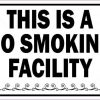Decorative This Is a No Smoking Facility Magnet