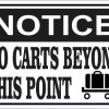 Luggage Cart Notice No Carts Beyond This Point Sticker