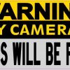 Warning Security Cameras in Use Magnet