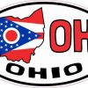 Oval OH Ohio Sticker