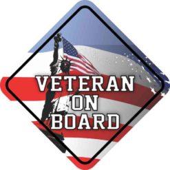 Veteran On Board Sticker