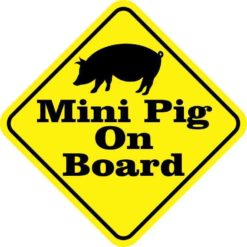 Mini Pig On Board Sticker