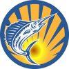 Circle Sunburst Marlin Sticker