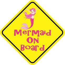 Mermaid On Board Magnet