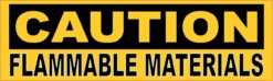 Caution Flammable Materials Magnet