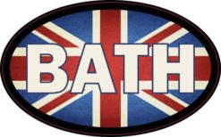 Oval UK Flag Bath Sticker