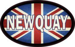 Oval UK Flag Newquay Sticker