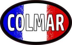 Oval French Flag Colmar Sticker