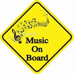 Music On Board Sticker