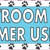 Paw Prints Restroom For Customer Use Only Sticker