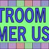 Colorful Squares Restroom For Customer Use Only Sticker