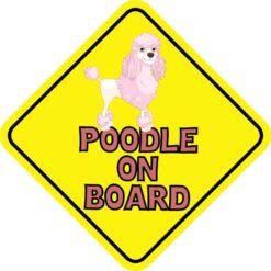 Pink Poodle on Board Magnet