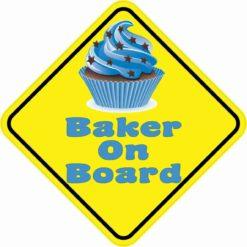 Baker On Board Sticker