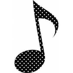 Polka Dot Eighth Note Sticker