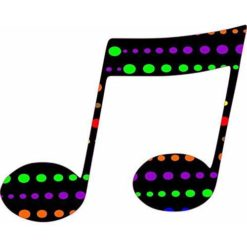 Colorful Polka Dots Double Eighth Note Sticker