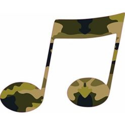 Camo Double Eighth Note Sticker