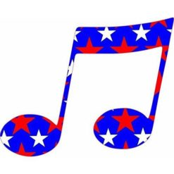 Patriotic Double Eighth Note Sticker