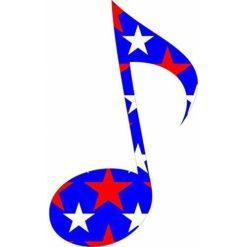 Patriotic Eighth Note Sticker