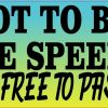 I'm Not to Blame for the Speed Limit Bumper Sticker