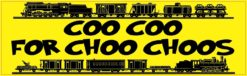 Coo Coo for Choo Choos Vinyl Sticker