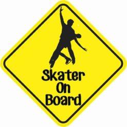 Duo Skater On Board Sticker